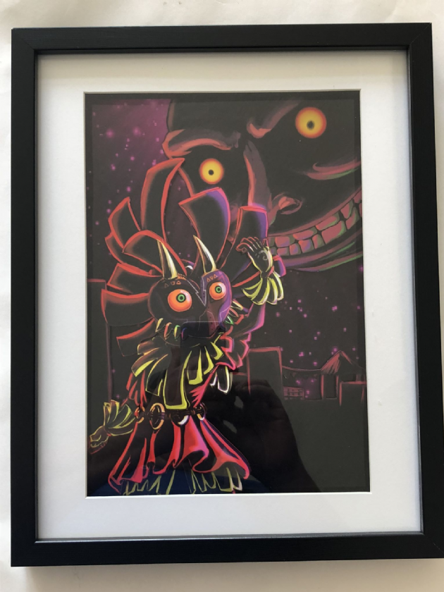 Legend of Zelda Majoras Mask Illuminous 3D Art